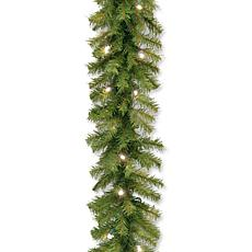 9' Battery-Operated Norwood Garland w/LEDs