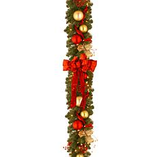 9' Decorative Coll. Cozy Garland w/Lights
