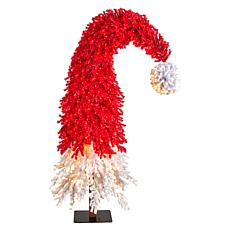 9' Holiday Red Santa's Hat Christmas Tree with 600 LED lights