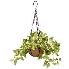 "9"" Pothos Plant Artificial Hanging Basket"