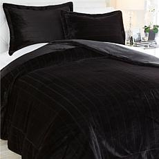 A by Adrienne Landau Faux Fur Comforter Set