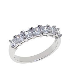 Absolute™ 1.05ctw CZ Princess-Cut 7-Stone Ring