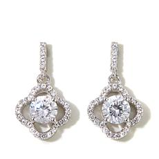 Absolute™ 1.28ctw Cubic Zirconia Lobed Dangle Earrings
