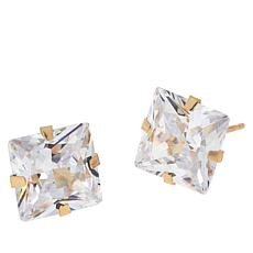 Absolute™ 14K Gold 6ctw Cubic Zirconia Princess Stud Earrings