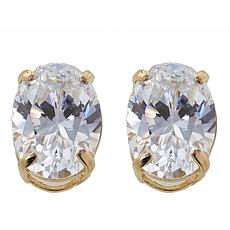 Absolute™ 1.50ctw CZ 14K Oval Stud Earrings