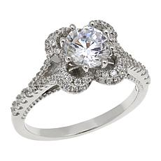 Absolute™ 1.77ctw CZ Round Stone Scalloped Gallery Ring