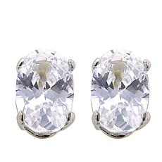 Absolute™ 1ctw CZ 14K Oval Stud Earrings