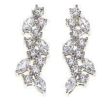 Absolute™ 2.16ctw CZ Sterling Silver Cluster Drop Earrings