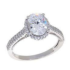 Absolute™ 2.42ctw Cubic Zirconia Oval/Round Shield Ring