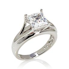 Absolute™ 2ctw Cubic Zirconia Sterling Shank Ring