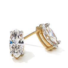 Absolute™ 2ctw Marquise-Shaped Stud Earrings