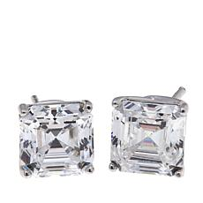 Absolute™ 4ctw Cubic Zirconia Asscher-Cut Stud Earrings