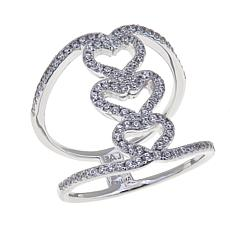 Absolute™ .52ctw Triple Heart Negative Space Ring