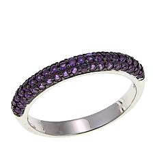 Absolute™ .59ctw Simulated Amethyst Band Ring