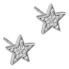Absolute™ Cluster-Set Cubic Zirconia Star Stud Earrings