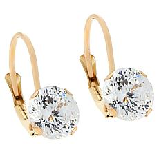 Absolute™ Cubic Zirconia 120-Facet Round Leverback Earrings