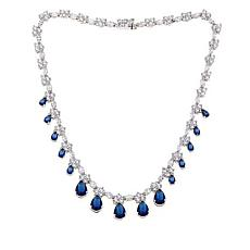 Absolute™  Cubic Zirconia and Simulated Sapphire  Dangle Necklace