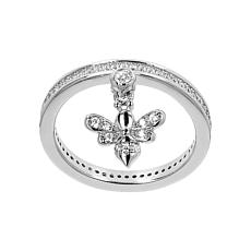Absolute™ Cubic Zirconia Bee Charm Ring