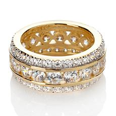 Absolute™ Cubic Zirconia Gold-Plated Channel-Set Round Eternity Ring