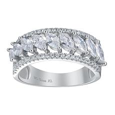 Absolute™ Cubic Zirconia Marquise-Cut Pavé Wedding Band Ring