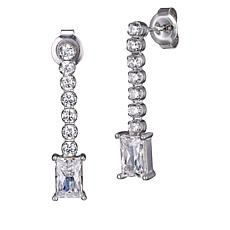 Absolute™ Cubic Zirconia Round and Baguette Dangle Earrings
