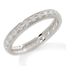 Absolute™ Cubic Zirconia Round Prong-Set Eternity Band
