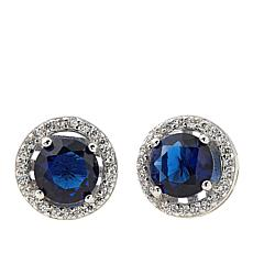 Absolute™ CZ and Simulated Blue Topaz Earrings
