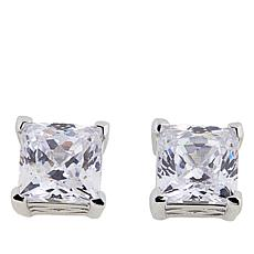 Absolute™ CZ Aurora Star 101 Facets Platinum-Plated Princess Studs