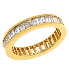 Absolute™ Gold-Plated Cubic Zirconia Emerald-Cut Eternity Ring
