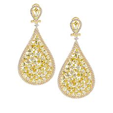 Absolute™ Gold-Plated Sterling Silver Multi-Cut Pear Drop Earrings