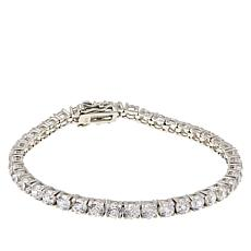 Absolute™ Sterling Silver 100-Facet Round 4mm Tennis Bracelet
