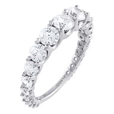 Absolute™ Sterling Silver Cubic Zirconia Graduated Round Band Ring