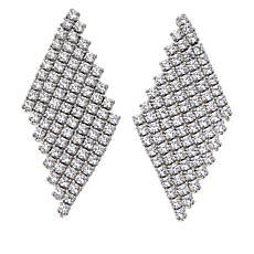Absolute™ Sterling Silver Cubic Zirconia Mesh Chandelier Earrings