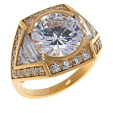 Absolute™ Sterling Silver Cubic Zirconia Multi-Cut Bezel-Set Ring