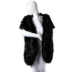 Adrienne Landau Oversized Faux Fur Wrap