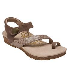 Aetrex® Georgia Toe Loop Leather Sandal