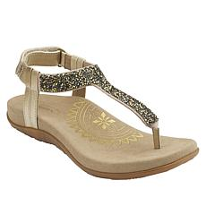 Aetrex® Jade Slingback Thong Sandal with Crystals