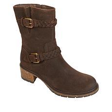 Aetrex® Nora Waterproof Leather Mid-Calf Moto Boot
