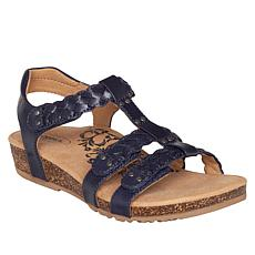 Aetrex® Reese Braided Leather Gladiator Sandal
