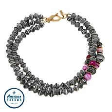 "Akola ""Glimpse of the Mara"" Agate and Karatasi Bead 3-Strand Necklace"