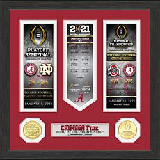 Alabama 2020/21 Football Ntnl Champs Road to Championship Photo Mint