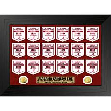 Alabama Crimson Tide Gold Coin Deluxe Banner Collection