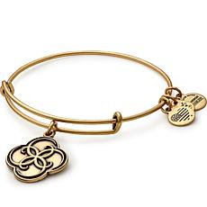 "Alex and Ani ""Breath of Life"" Charm Expandable Bangle-Silvertone"