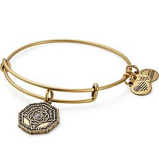 "Alex and Ani ""Bridesmaid"" Charm Expandable Bangle-Silvertone"