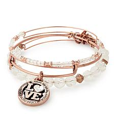 Alex and Ani Love Language Set of 3 Bangles