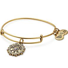 "Alex and Ani ""Maid of Honor"" Charm Expandable Bangle-Silvertone"