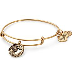"Alex and Ani ""Mermaid"" Charm Expandable Bangle-Silvertone"