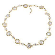 Amara Jewelry Collection 9-16mm Cultured Pearl Station Necklace