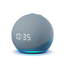 Amazon Echo Dot 4th Gen Smart Speaker with Clock - Twilight Blue