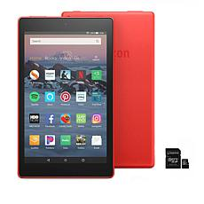"""Amazon Fire HD 8"""" 16GB Alexa-Enabled Tablet with 32GB SD Card"""